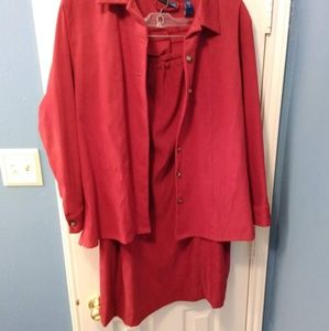 Vintage red skirt and shirt set
